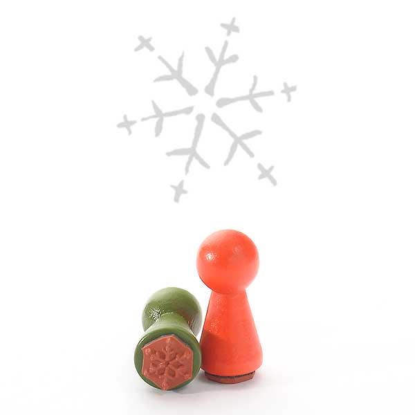 Motivstempel Titel: Ministempel Schneeflocken II