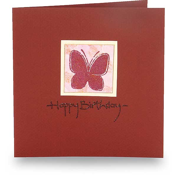 Happy Birthday mit Schmetterling