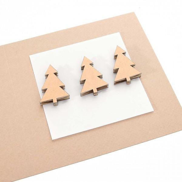 von Pappe Mini-Tannenbäume