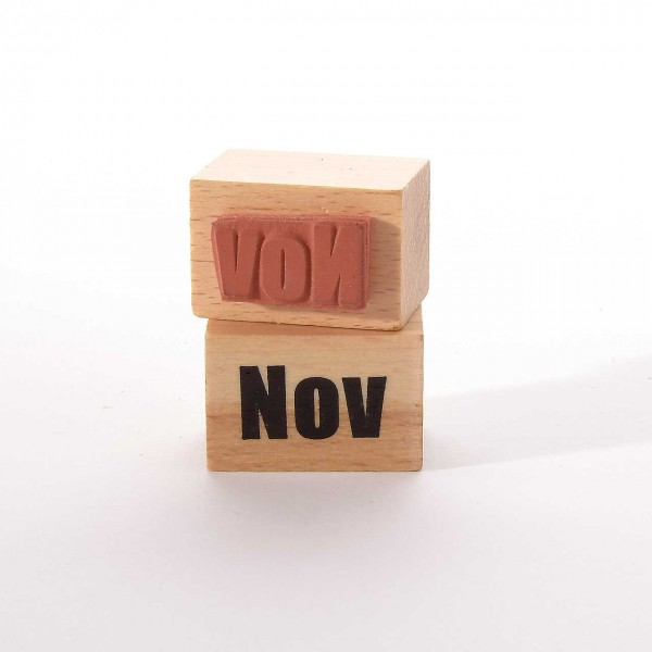 Motivstempel Titel: Monate - Nov