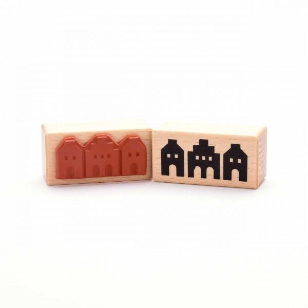 Motivstempel Titel: Häuser aus Münster