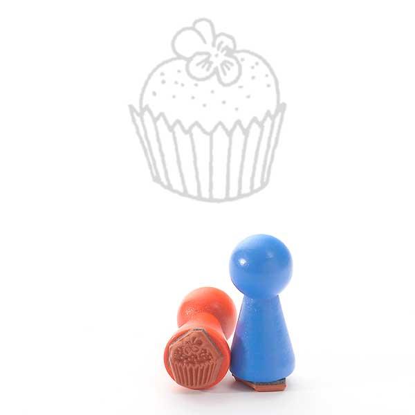Motivstempel Titel: Ministempel liten cupcake - mini Cupcake