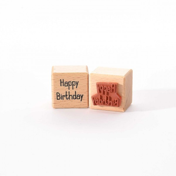 Motivstempel Titel: Happy Birthday