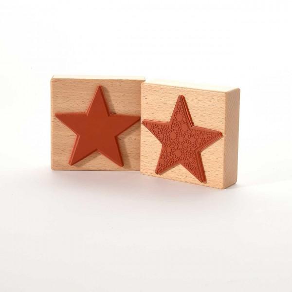 Motivstempel Titel: Stern aus vielen Punkten