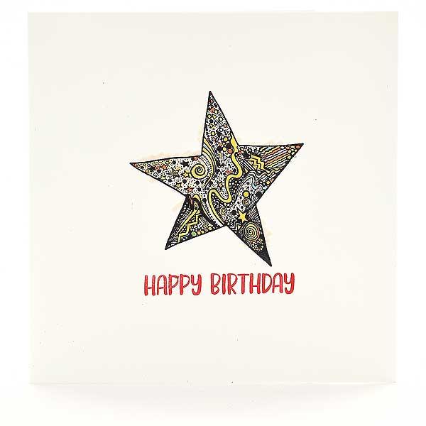 Happy Birthday mit Stern