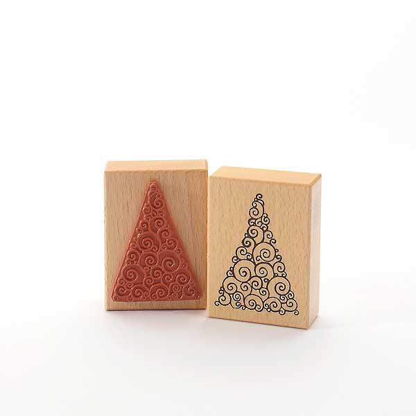 Motivstempel Titel: Weihnachtsbaum zum Kringeln