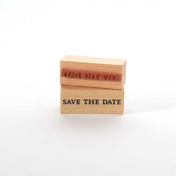 Motivstempel Titel: save the date