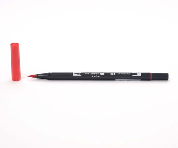 Tombow Dual Brush Pen - Chinese Red - China Rot