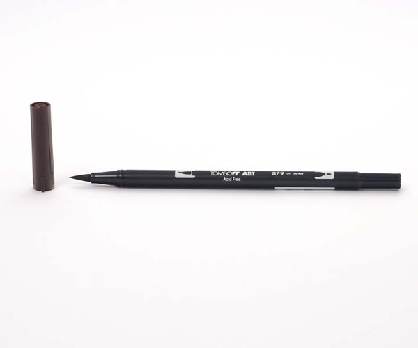 Tombow Dual Brush Pen - Brown - Braun