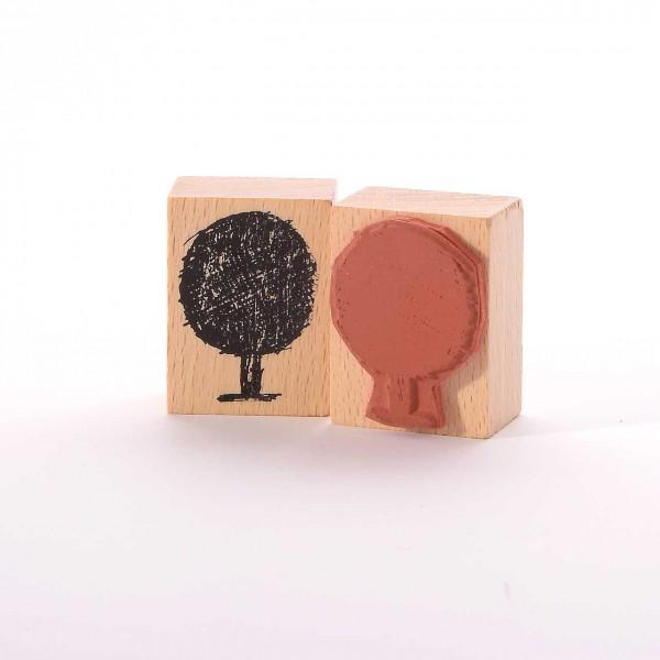 Motivstempel Titel: Kleiner runder Baum