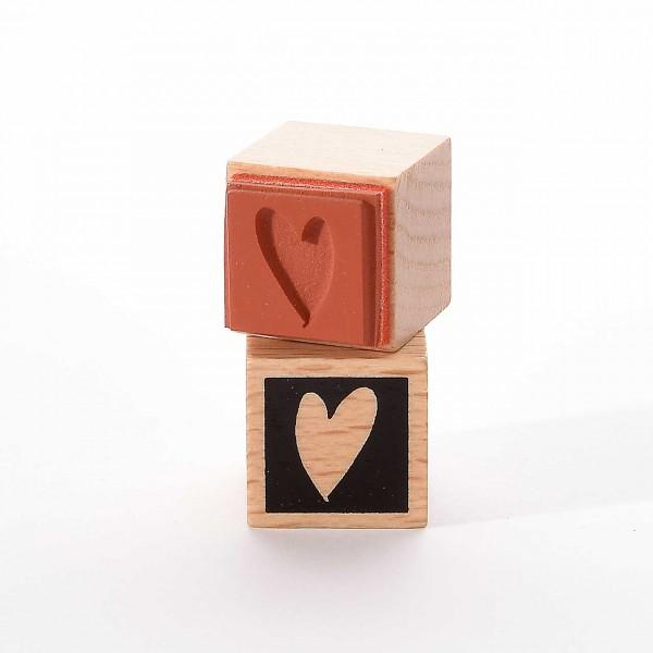 Motivstempel Titel: Herzfläche im Quadrat