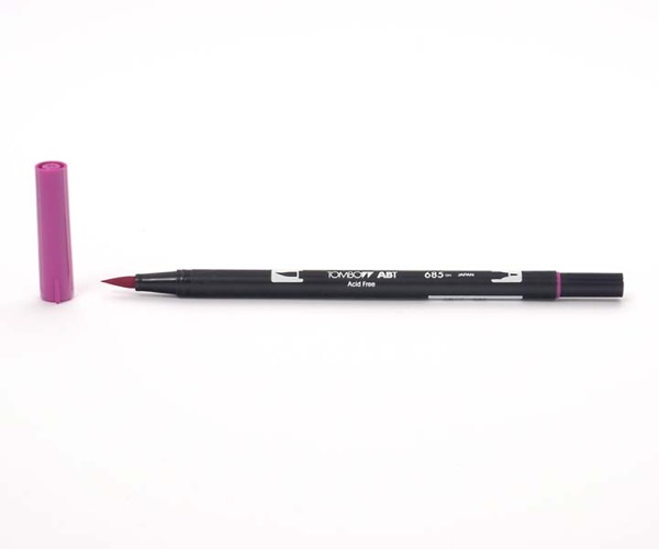 Tombow Dual Brush Pen - Deep Magenta - Tiefmagenta