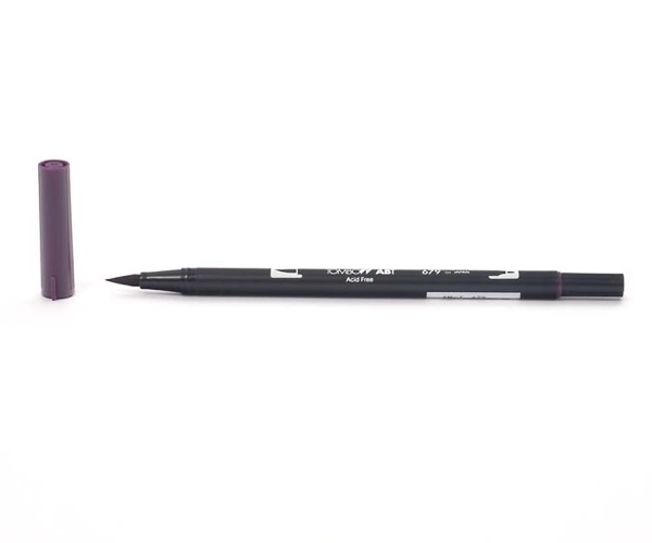 Tombow Dual Brush Pen - Dark Plum - Zwetschge