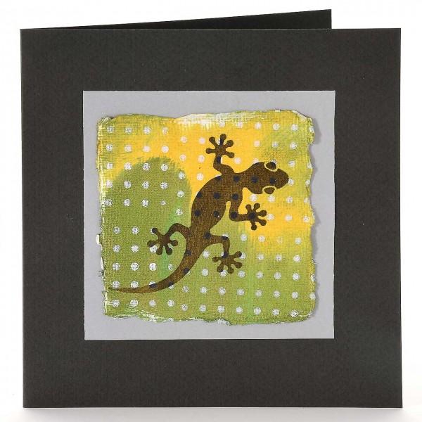 Gecko mit Punktemuster