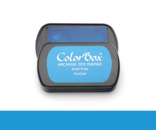 CB Archival Dye Ink Stempelkissen · Poolside - Im Strandbad (Blau)