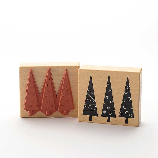 Motivstempel Titel: Drei Weihnachtsbäume