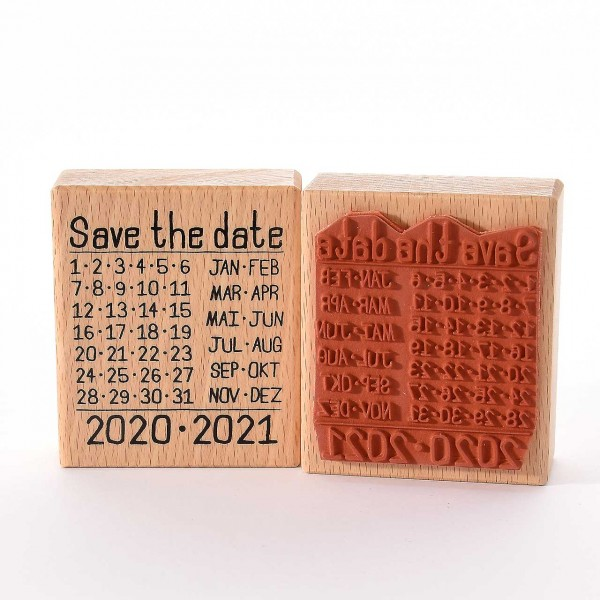 Motivstempel Titel: Save the date 2020-2021