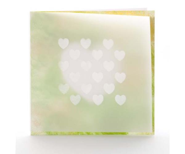 Grafische Schablonen - Großes Herz (75 x 75 mm)