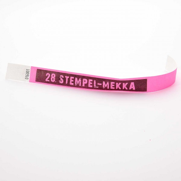28. Stempel-Mekka 2019 Einlassband · Pink · Sonntag für eine Person ab 12 Jahre