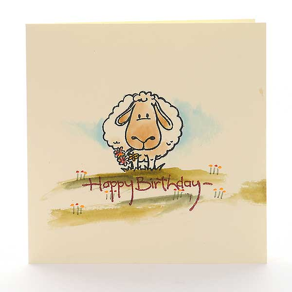 Schaf beim Frühstück