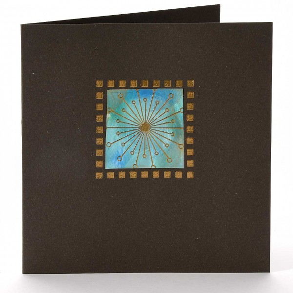 Vier Karten mit einmal Farbe IV: Astrostern im Rahmen