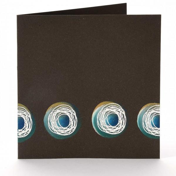 Vier Karten mit einmal Farbe II: Vier Kreise