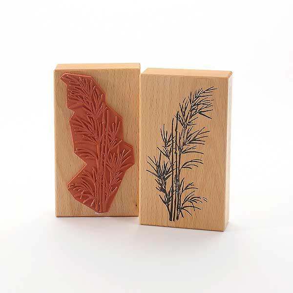 Motivstempel Titel: Bambus im Wind