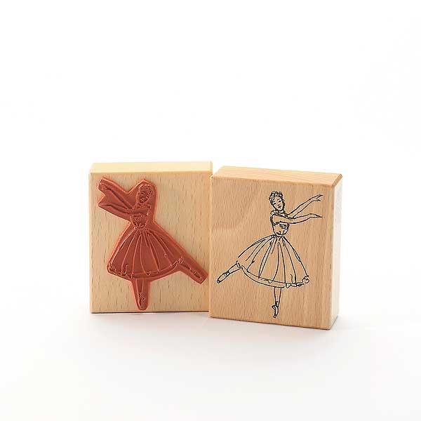 Motivstempel Titel: Ballerina auf einem Bein