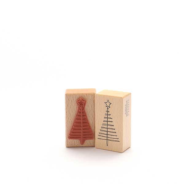 Motivstempel Titel: Weihnachtsbaum mit wenigen Strichen