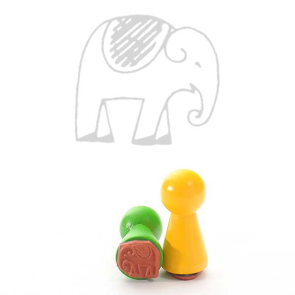 Motivstempel Titel: Ministempel Elefant