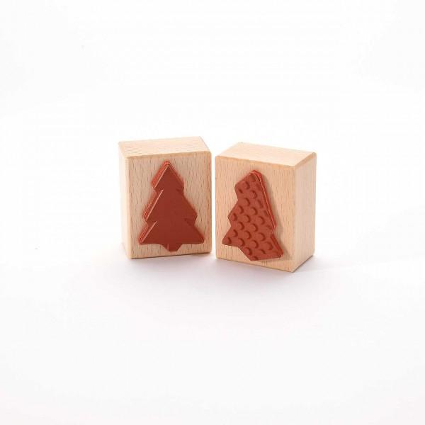 Motivstempel Titel: Weihnachtsbaum-Fläche und -Punkte