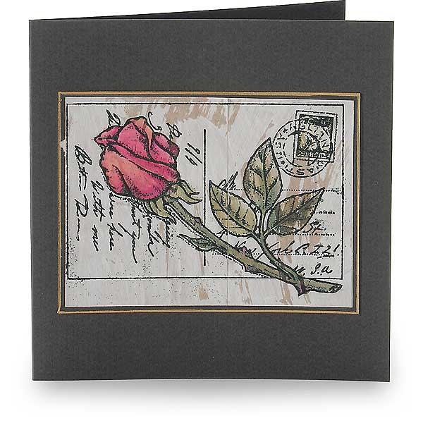Liebesbrief mit Rose