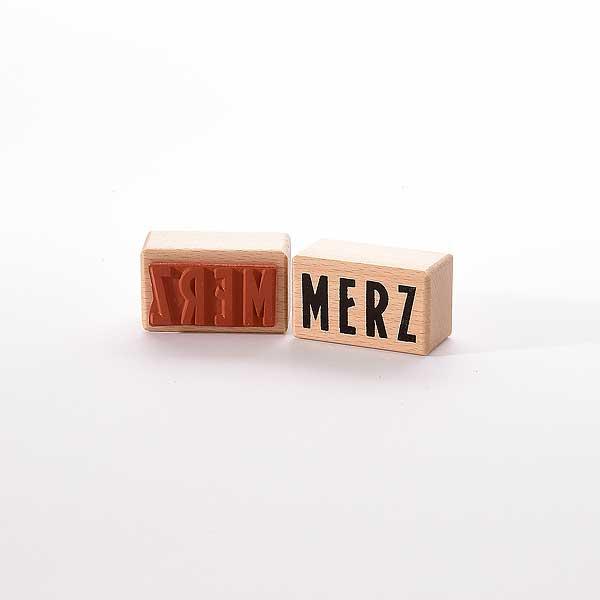 Motivstempel Titel: Merz (Kurt Schwitters 1887-1948)