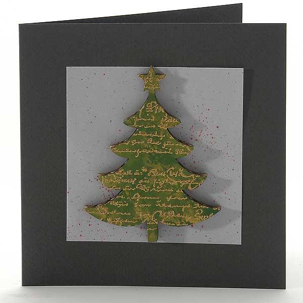 Weihnachtsbaum von Pappe