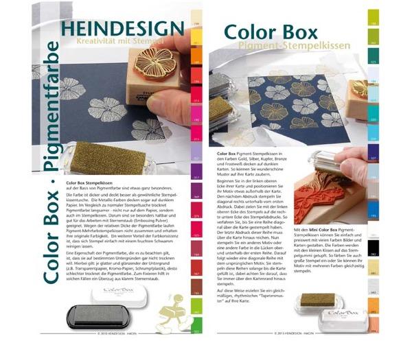 Info-Karte ColorBox Pigment-Stempelkissen