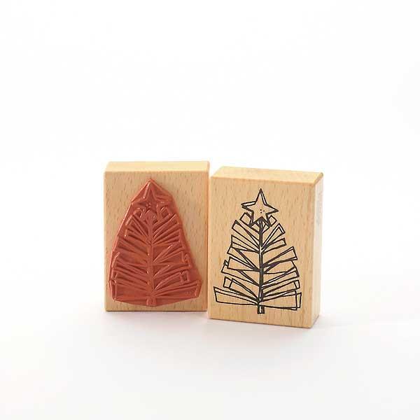 Motivstempel Titel: Stilisierter Weihnachtsbaum mit Stern