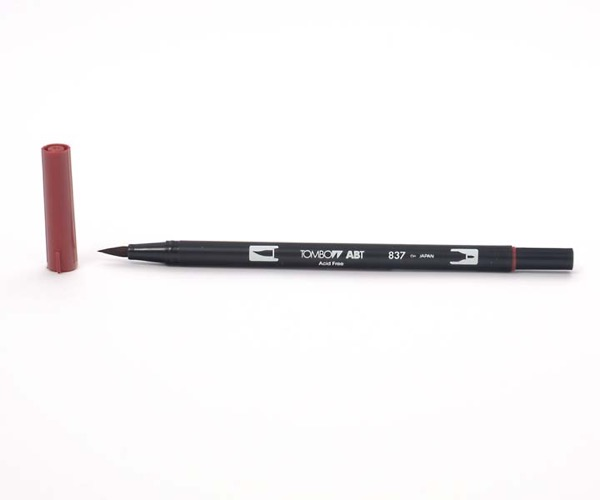 Tombow Dual Brush Pen - Wine Red - Weinrot