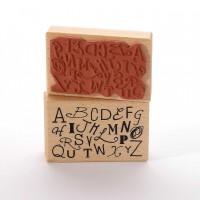 Motivstempel Titel: Viele Buchstaben