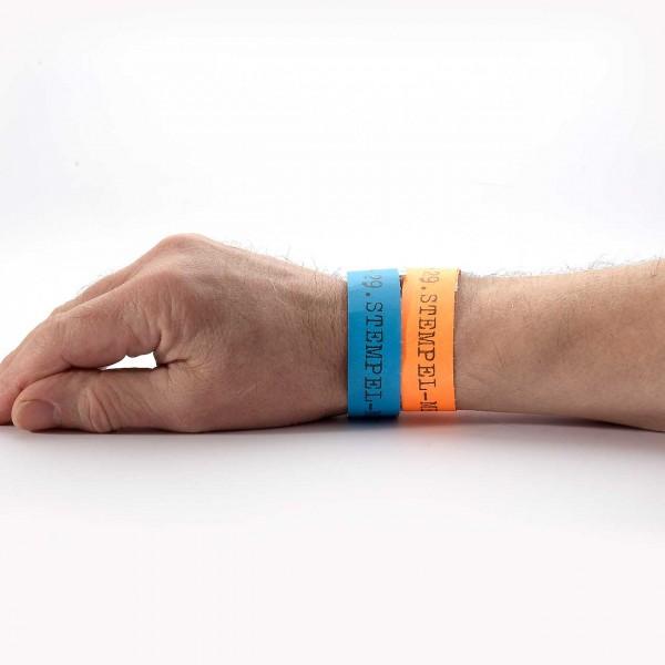 29. Stempel-Mekka 2020 Einlassbänder · Blau und Orange · für eine Person ab 12 Jahre