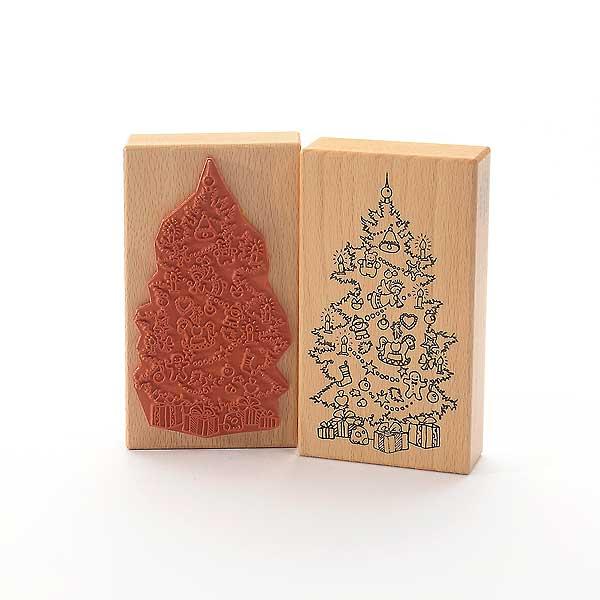 Motivstempel Titel: Geschmückter Weihnachtsbaum