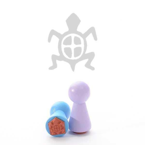 Motivstempel Titel: Ministempel Steinzeit Schildkröte von Judi-kins