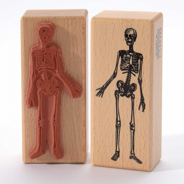 Motivstempel Titel: Skelett menschlich
