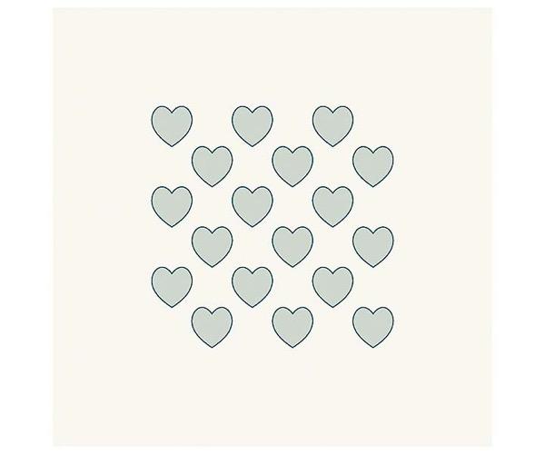 Grafische Schablonen - Viele Herzen (82 x 82 mm)