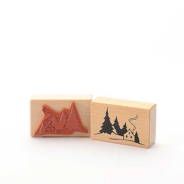 Motivstempel Titel: Haus im Wald