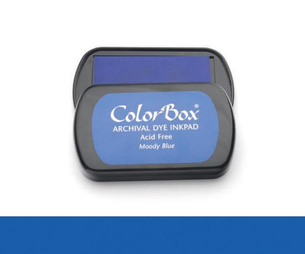 CB Archival Dye Ink Stempelkissen · Moody Blue - Blaue Stimmung