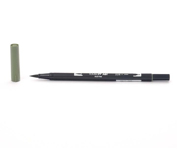 Tombow Dual Brush Pen - Gray Green - Graugrün