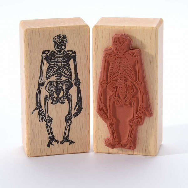 Motivstempel Titel: Skelett Affe