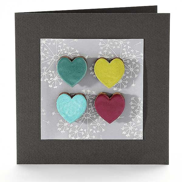 Vier Herzen