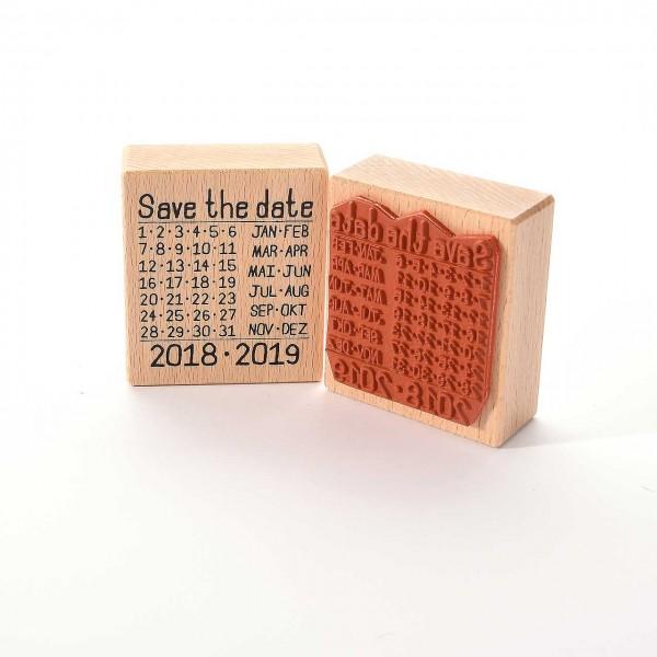 Motivstempel Titel: Save the date 2018·2019