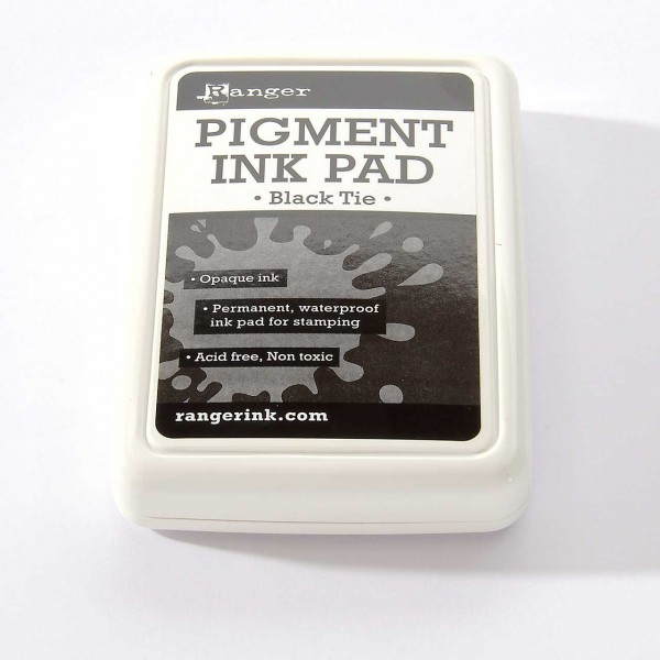 Ranger Pigment Ink - Black Tie · Schwarz